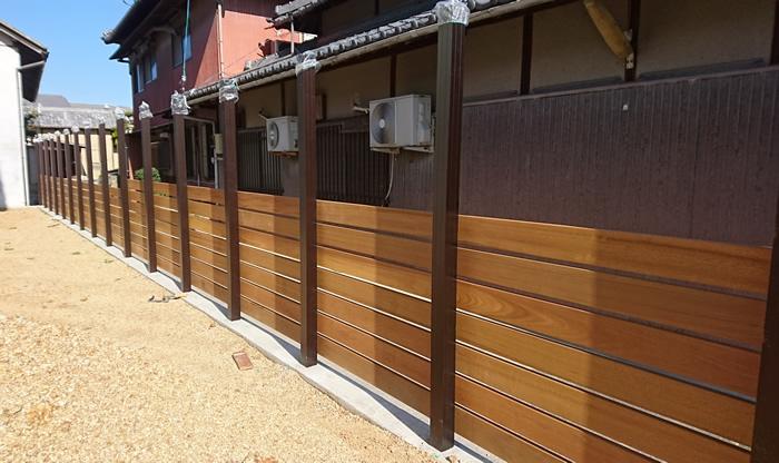 香川県三豊市T様、ウッドフェンス