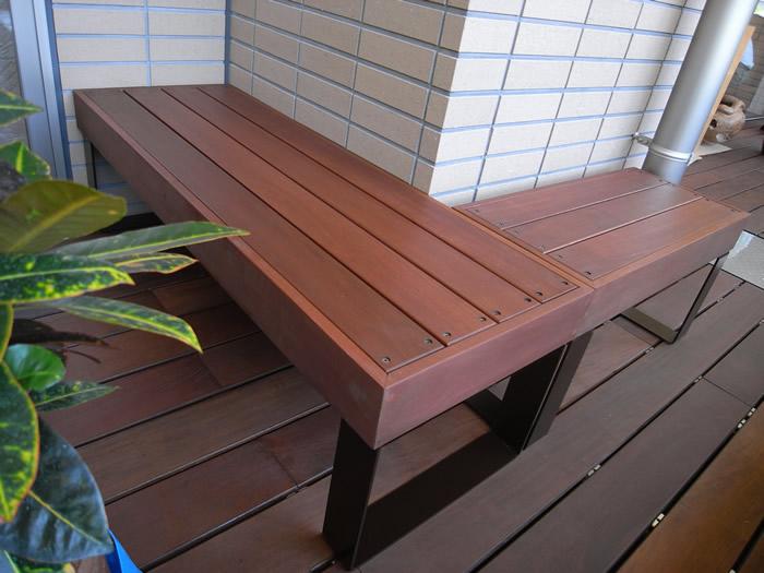 東京都KLOSS小田様、ガーデン用ベンチ・テーブル