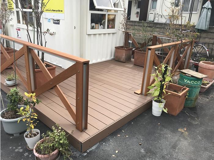福岡県春日市粉や金蔵様ウッドフェンス