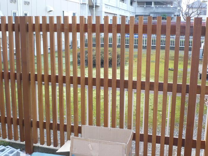 埼玉県所沢市N様、ウッドフェンス
